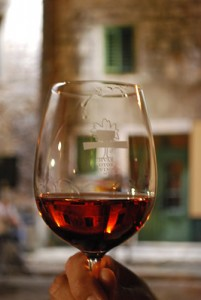 A glass of Hvar wine